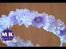 Канзаши мастер-класс. Цветы из лент. Ободок на голову Весенняя свежесть/Spring headband