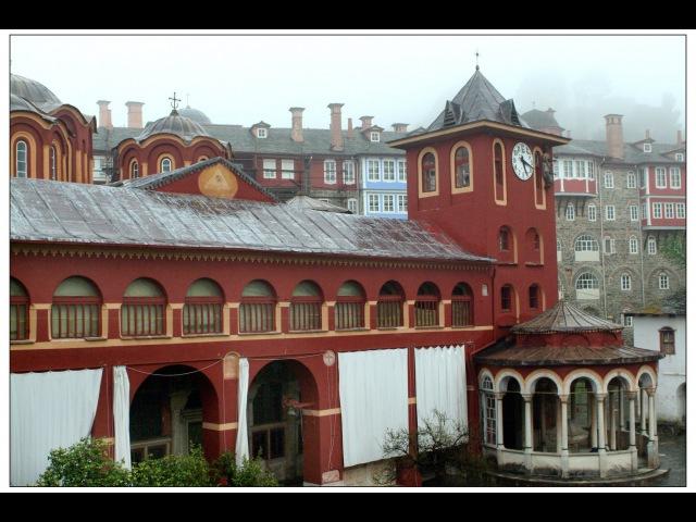 Мир Приключений Монастырь Ватопед Святая Гора Афон Monastey Vatopaidi Holy mountain Athos