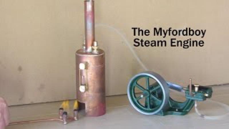 Building the Myfordboy Steam Engine Part 10 Running