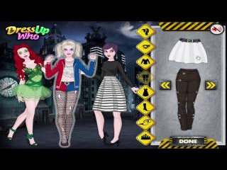 Halloween Dress up games Harley Quinn and Friends and Victoria's Halloween Scarecrow Costume