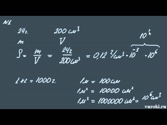 физика ПЛОТНОСТЬ ВЕЩЕСТВА 7 класс Перышкин