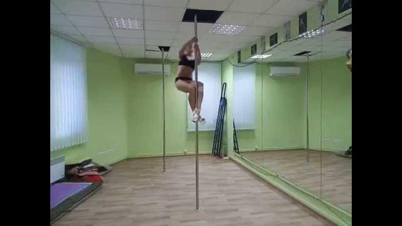 Palatova Ludmila, exotic combo on spining pole 21.07.2016
