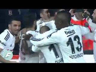 Mario Gomez scores the first goal in the new Beikta stadium