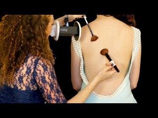 ASMR Massage ♥ Back Tickling, Brushing & Whispering to Melt Away Stress ♥ 3Dio Ear to Ear Binaural