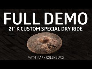 """Zildjian Demos - 21"""" K Custom Special Dry Ride"""