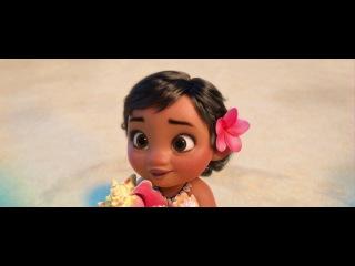 """Маленькая Моана. Интересный и добрый момент из мультфильма """"Моана"""""""