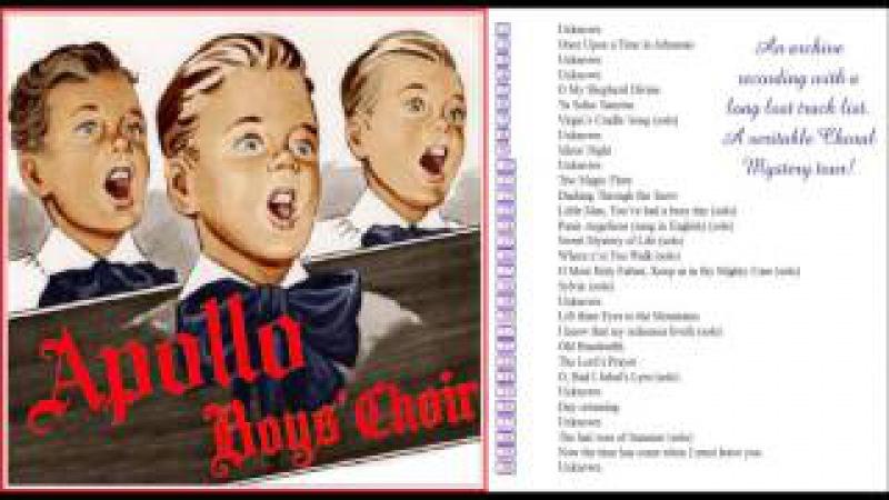 Boy soprano soloist of Apollo Boys' Choir sings O had I Jubal's Lyre LP 1955