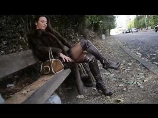 Julie skyhigh, furfetish nude under zibline fur coat