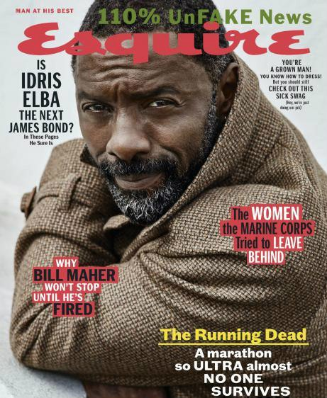 Book cover Esquire USA August 2017