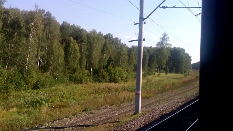 Отправление со станции Чебаркуля и перегон Чебаркуль - Мисяш ЮУЖД