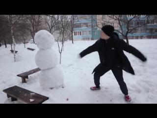 Как отпздить снеговика! Ахаха! Смешные видео 2016! Короткие видео приколы 2016!