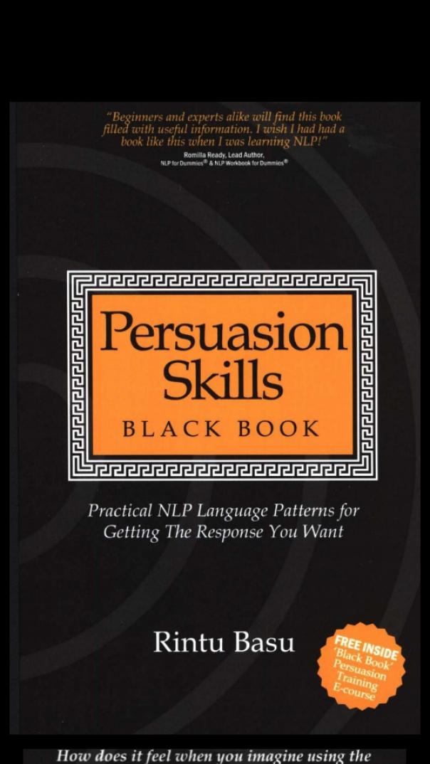 Persuasion Skills Black Book