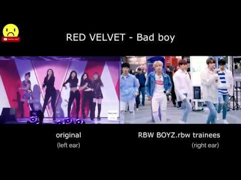 RED VELVET Bad boy Original RBW BOYZ Comparison