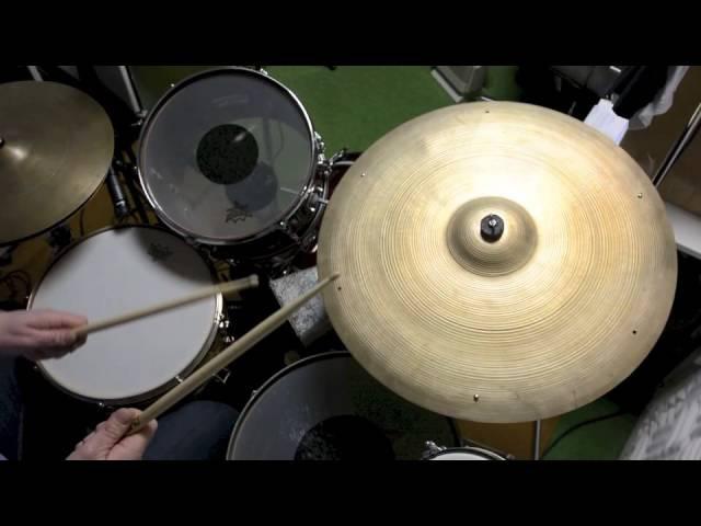 Three Great Cymbals Avedis Zildjian 22 Vintage 50's 60's Sizzle Thin Light Jazz Crash Ride