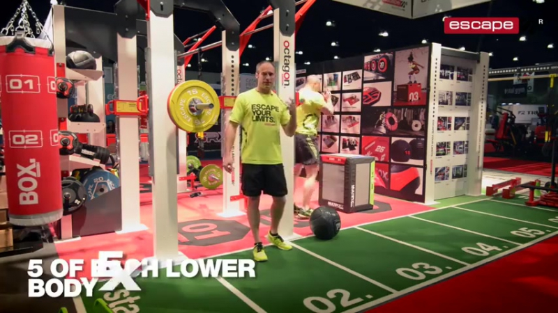 Functional training developing strength and power at IHRSA 2015 Workout of the W