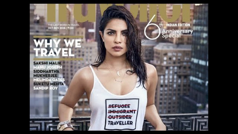Priyanka Chopra's Bold and Fearless Pose in T Shirt has done HANGAMA on Latest Magazine Cover