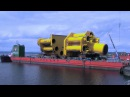 Solutions Howwedoit How Sarens loaded out a 23000t jacket in 2014 in Norway