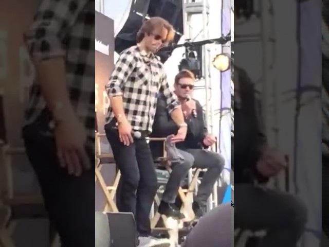 Jensen Ackles and Jared Padalecki FULL EWPopFest panel via periscope by @maliburumbarbie