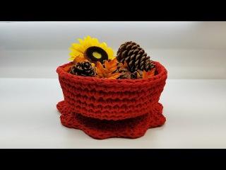 Learn How To Crochet T-Shirt Yarn Decorative 12