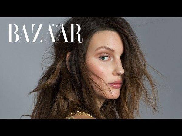 Veroniek Gielkens in Haute Couture by Benjamin Kanarek for Harper's Bazaar