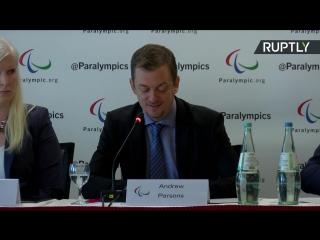 Пресс-конференция Международного паралимпийского комитета о статусе сборной России на Играх