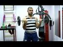 Flexii cu bara Z exercițiu pentru biceps Pro Fitness