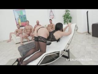 Жесткая анальная групповушка Nicole Black 6th Lesson 4on1 Balls Deep Anal DP DAP Messy Cumshot With Swallow porno hardcore