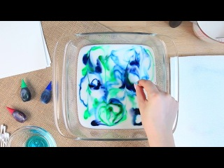 How to Make Marbled Paper With Milk | GH