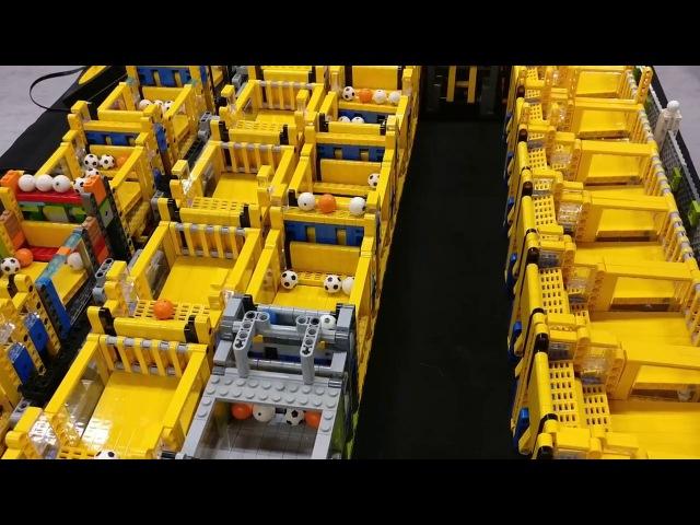 New World Record LEGO Great Ball Contraption GBC circuit at Skaerbaek FanWeekend 2017