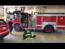 Пожарные Чикаго выезжают на вызов.