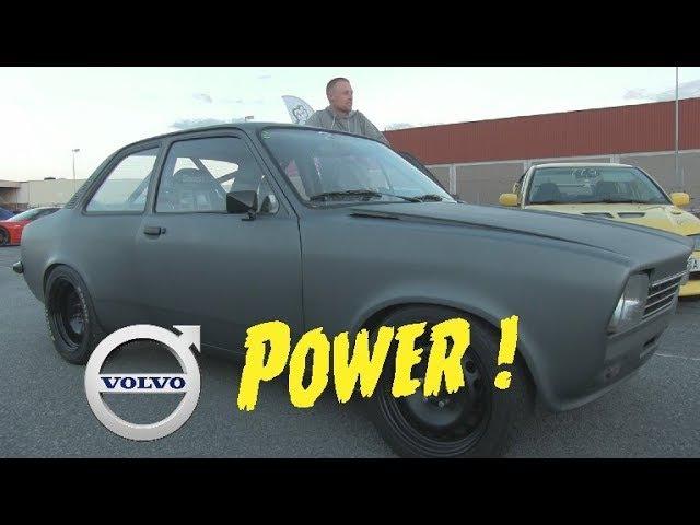 Opel Kadett B230 8v Turbo Powerd at vallåkra night race