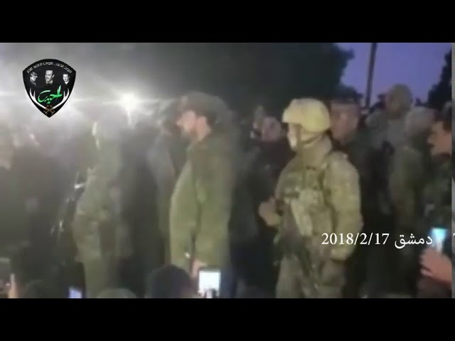 Выступление командующего тиграми САА Аль Немера Сухейла Аль Хасана в Дамаске 2018 2 18