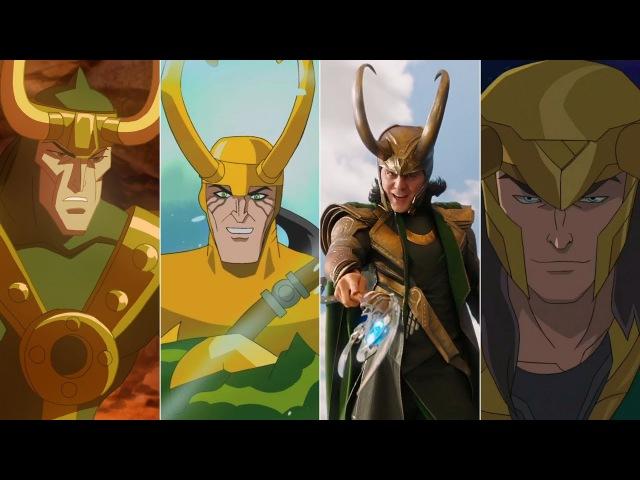 Эволюция Локи в мультфильмах и кино Evolution of Loki in movies and cartoons