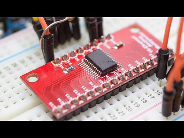 Мультиплексор CD74HC4067 или как сделать индикатор уровня воды на Arduino
