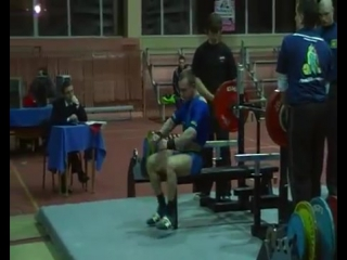 Аркадий Шалоха до 67.5 кг  жмет лежа 190 кг в однослойной экипировке 2010 год