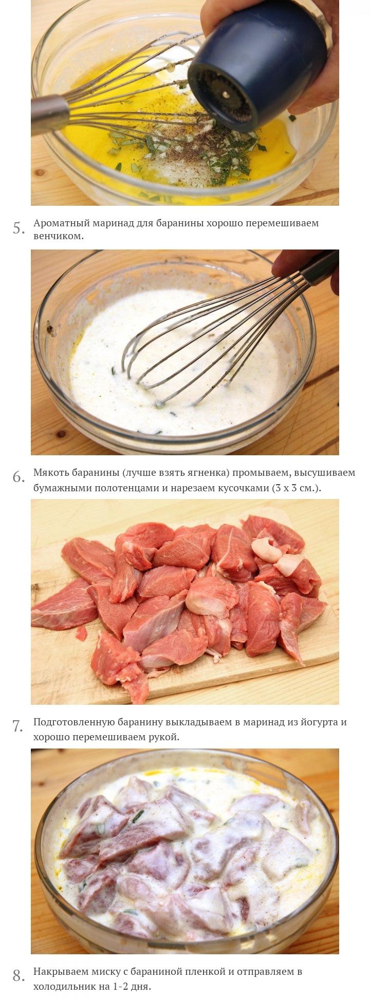 Шашлык из баранины, маринованной в йогурте, изображение №3