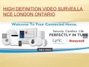 Sump pump monitoring with High definition video surveillance systems London Ontario - alarmtech.ca