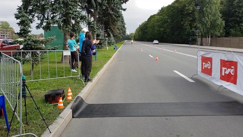 Финиш Игоря Веретенникова - серебряного призёра Чемпионата России бег 100 км 7:00.58