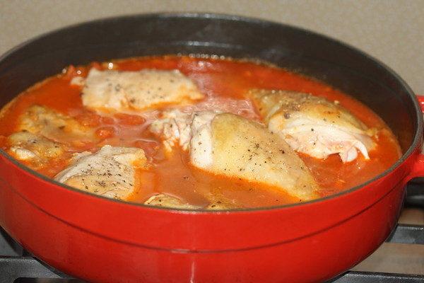 Тушеная курица с помидорами и баклажанами, изображение №4