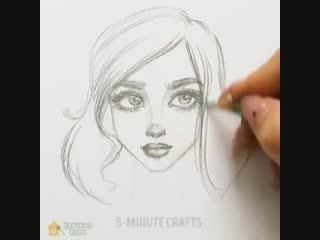 Как красиво рисовать лица (для начинающих)