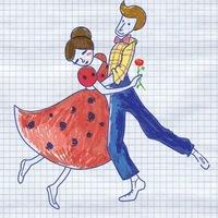 """Логотип Школа танцев """"Простые Движения"""" / Краснодар"""