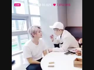 Hi this video of minseok painting baekhyuns face always makes me happy so im gna share it.mp4
