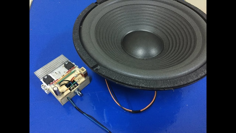 DIY Ultra Bass Amplifier with Dou B688 and D718 Transistor - V3