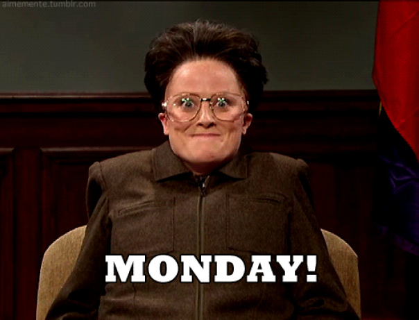 Веселый прикольные, гифка понедельник утро