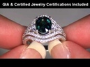GIA CERT 4 52 Carat Blue Sapphire Diamond Engagement Ring