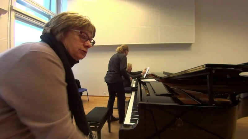 04 10 2019 Mira Marchenko and Karl Johan Nutt Master classes at the 'YOUNG MUSICIAN 2019' EAMT