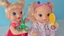 Куклы пупсики Беби Элайв играют в парикмахера в салоне красоты. Чуть не подстригла волосы. Зырики ТВ