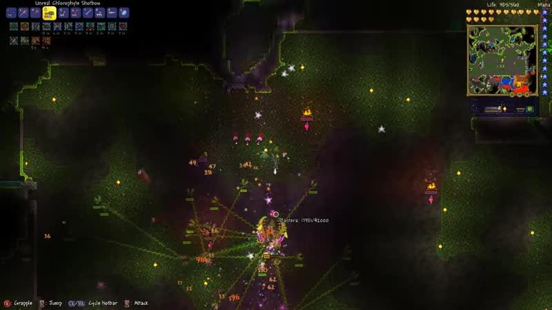 Видео [Тиджой] Сильнейшая плантера Terraria: Expert (Gamepad) - 6 смотреть онлайн
