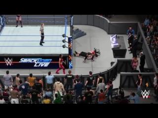 The Bella Twins vs John Cena  Daniel Bryan  Intergender Match WWE2K18