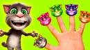 Мой говорящий кот том Детская песенка про пять пальчиков с героями игры
